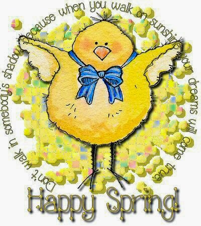 happy spring time - chick with positive quote image