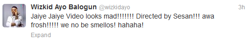 3 Wizkid tweets about Sesan directing his soon to be released video