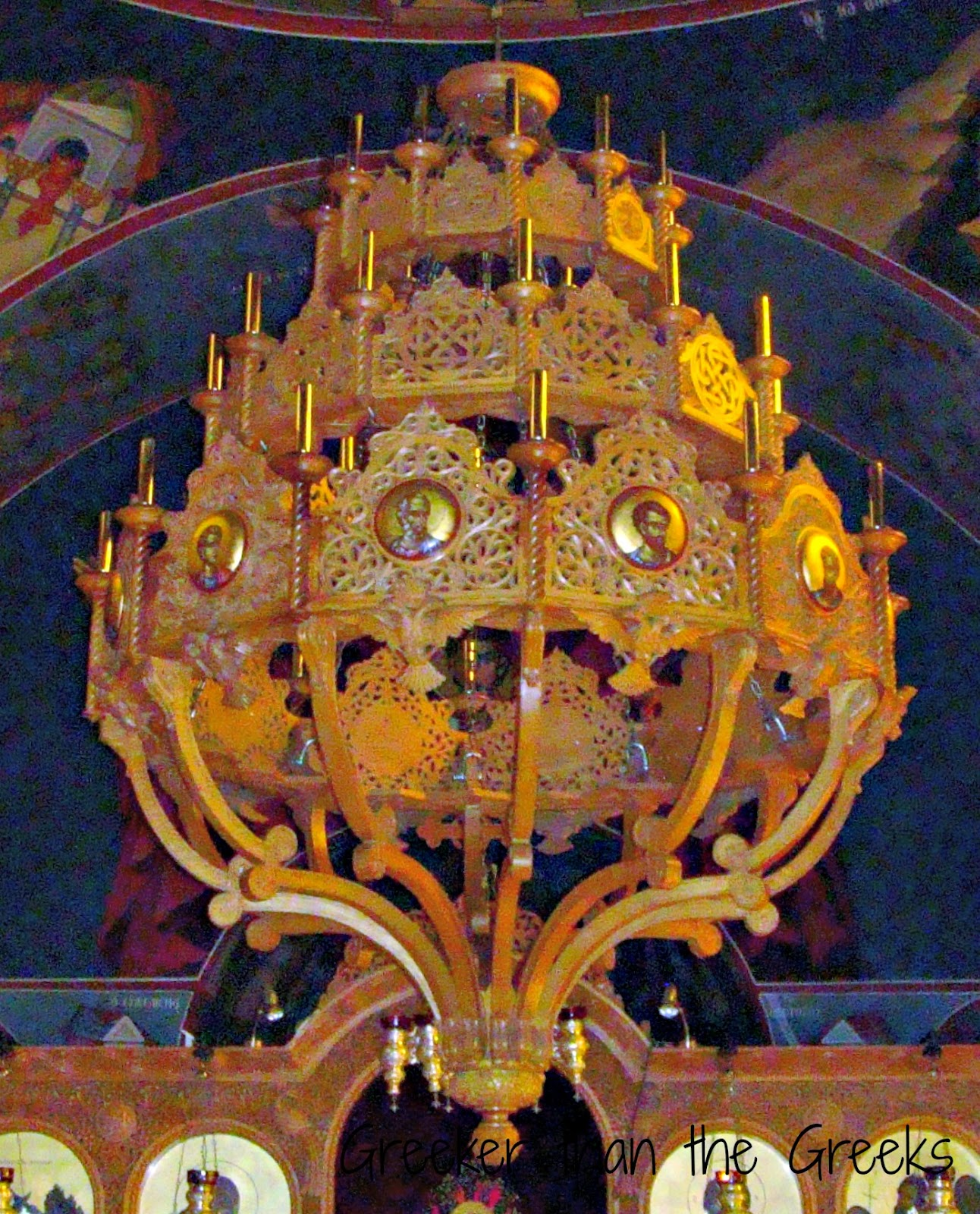 Chandelier chapel of The Virgin Mary Of Egypt