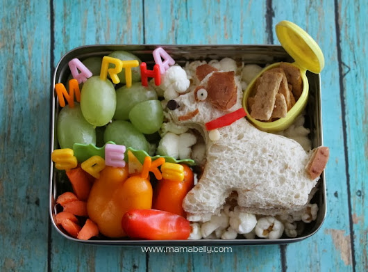 Mamabelly's Lunches With Love: Martha Speaks Bento