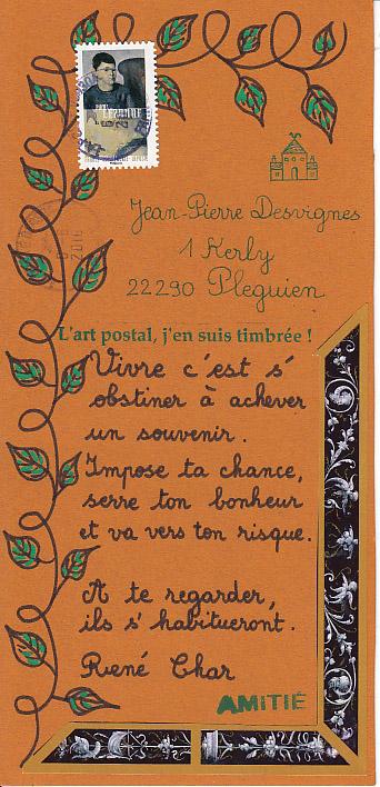 Le Blog Mail Art De Kerly Reçu De Annick Schulthess Brillant