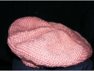 bereta roz prafuita moda handmade tricotata manual