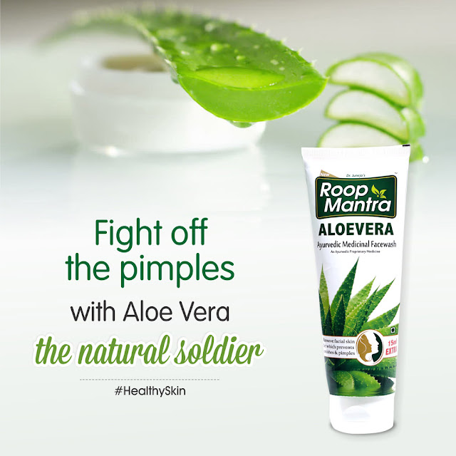 Give a tough fight to those stubborn Pimples with Roop Mantra Aloe Vera Face Wash