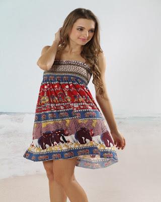 vestido corto maya de playa casual
