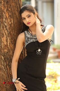 Actress Poojitha Pallavi Naidu Stills in Black Short Dress at Inkenti Nuvve Cheppu Movie Platinum Disc Function  0053.JPG