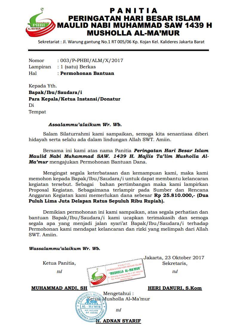 Proposal Phbi Maulid Nabi Isra Miraj F