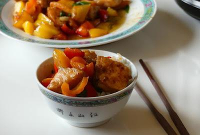 Lachs mit Paprika und Bärlauch, asiatisch angehaucht
