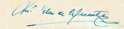 Firma de María del Pilar de Cifuentes