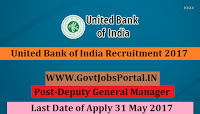 United Bank of India Recruitment 2017– Deputy General Manager