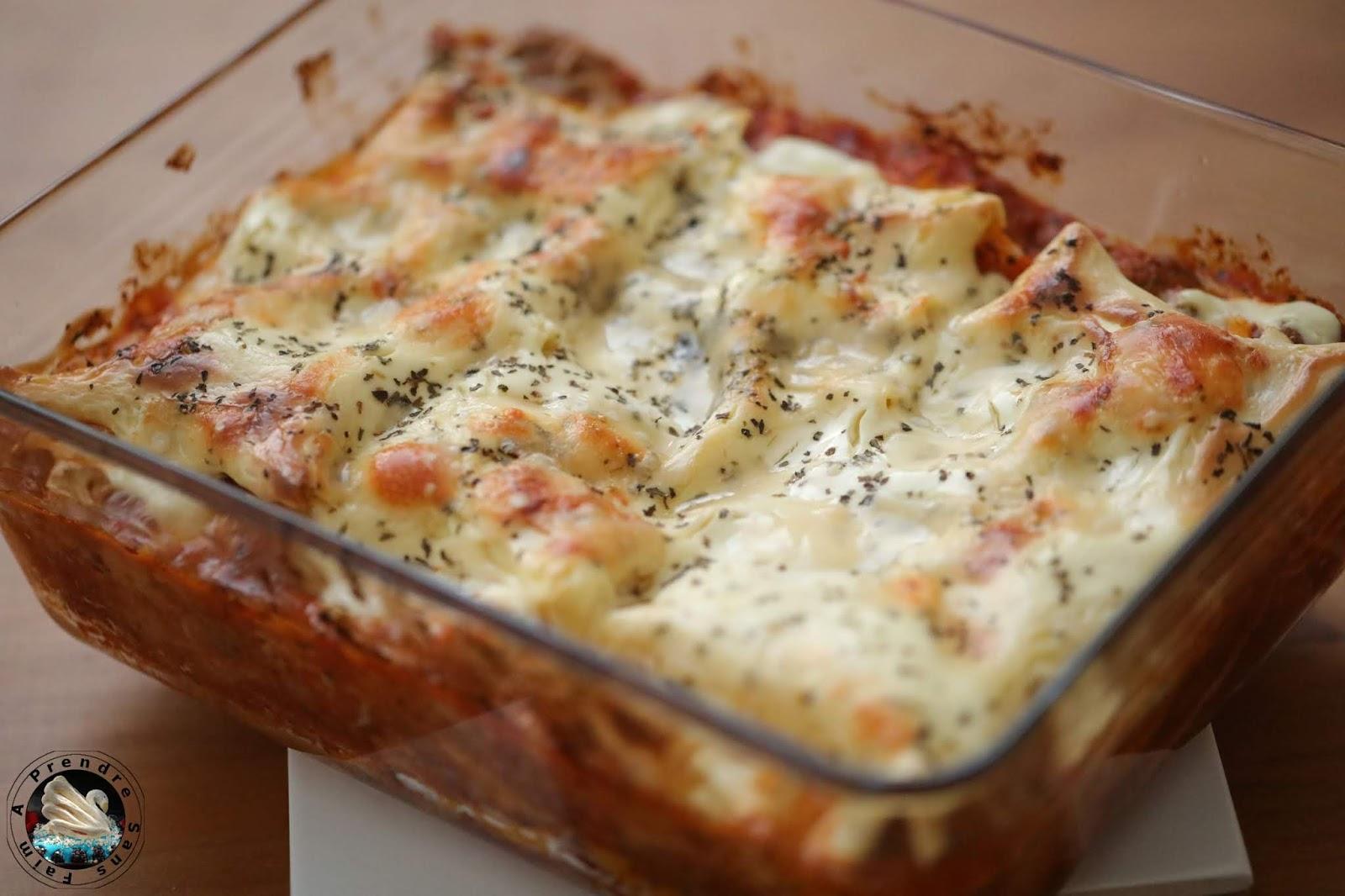 Lasagnes aux boulettes de bœuf (pas à pas en photos)