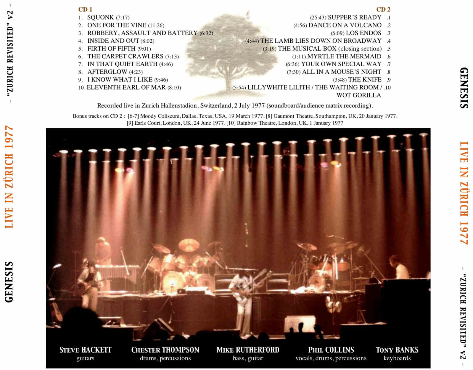 Genesis Live In Z 252 Rich 1977 Zurich Revisited V2