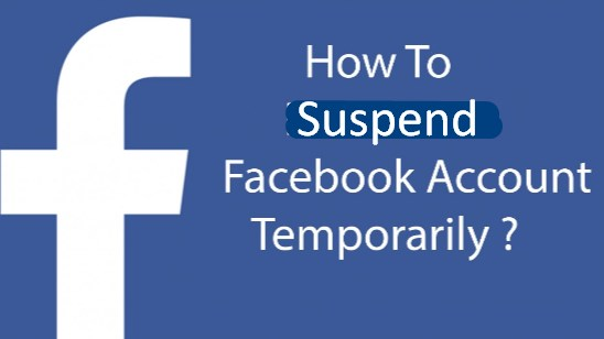 how to suspend facebook