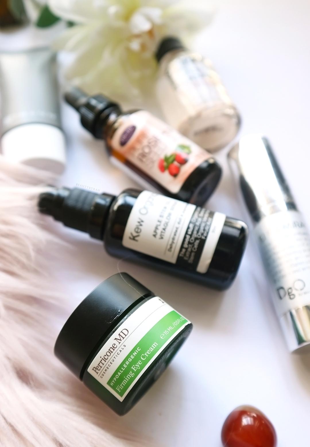 Perricone MD Firming Eye Cream and Kew Organics Apple Stem Vita Glow Serum Review