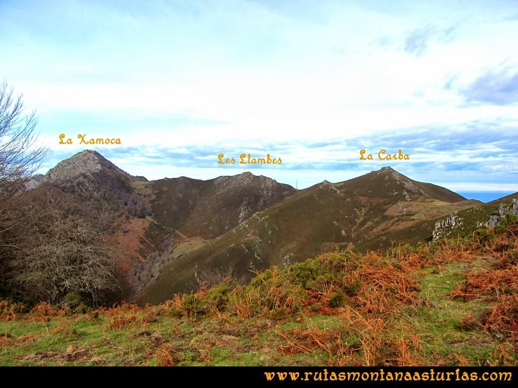 Vista de la zona de la Xamoca en Asturias