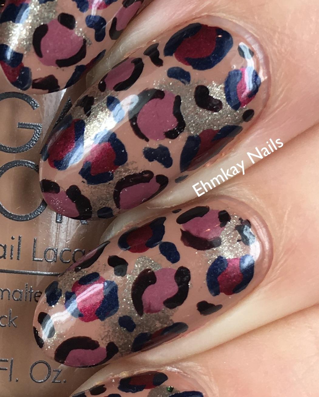 ehmkay nails: Leopard Nail Art with Morgan Taylor African
