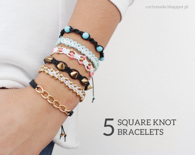DIY 5 Different Square Knot Bracelets