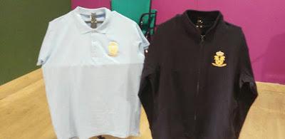 camiseta polo y sudadera bordadas para la A.M. Aires de Triana hechas por La Caja Cofrade de modo artesanal y con gran calidad para cualquier Banda, Agrupación Musical, Cuadrillas de costaleros o Hermandades
