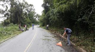 Prefeitura de Miracatu realiza manutenção de estradas rurais