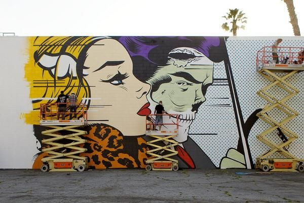 Mural al estilo pop art