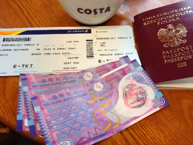 tickets, chinese money and costa