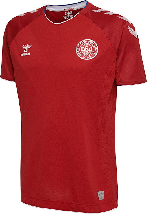 6f9894a7a Hummel Denmark 2018 World Cup Home   Away Kits Released - Footy ...