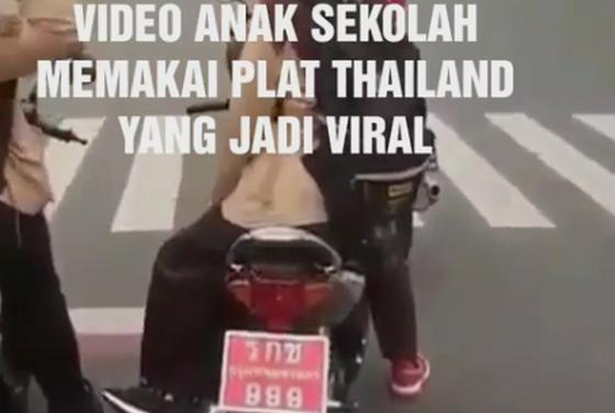 Video Anak Sekolah di Banyumas Naik Motor Dengan Plat Thailand Jadi Viral