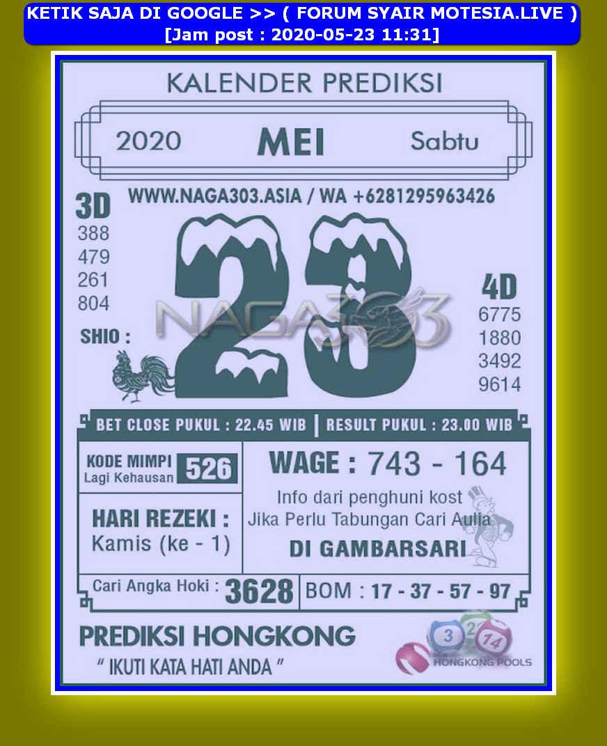 Kode syair Hongkong Sabtu 23 Mei 2020 188