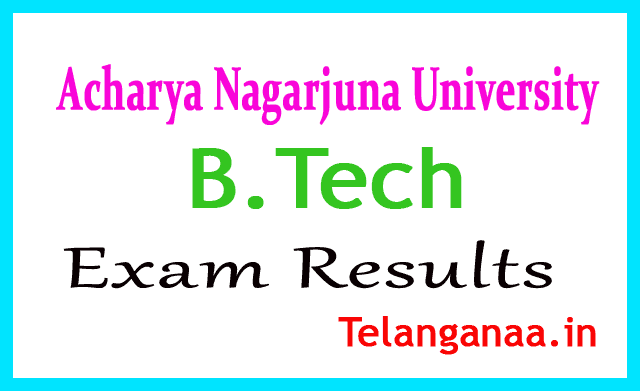 Acharya Nagarjuna University B.Tech CBCS 2018 Exam Results
