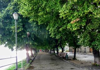 Ужгород. Набережна Незалежності. Липова алея