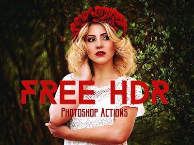Free HDR Portrait Photoshop Action