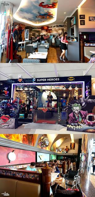 DC Comics Super Heroes Cafe, Kafe dan Resto Bertema Superhero di Singapura