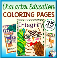 Character Education Coloring Posters