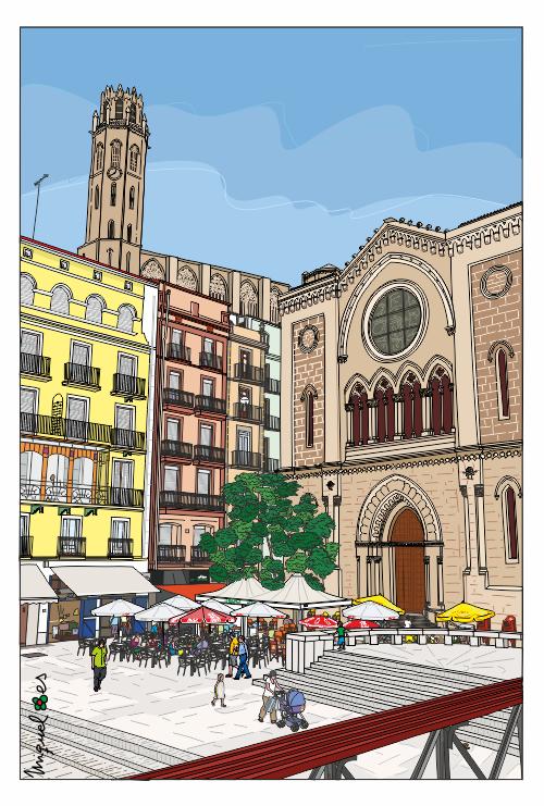 Lleida, Plaza San Juan