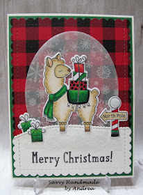 Merry Christmas by Andrea features Llama Delivery, Santa Paws Newton, and Frames & Flags by Newton's Nook Designs; #newtonsnook