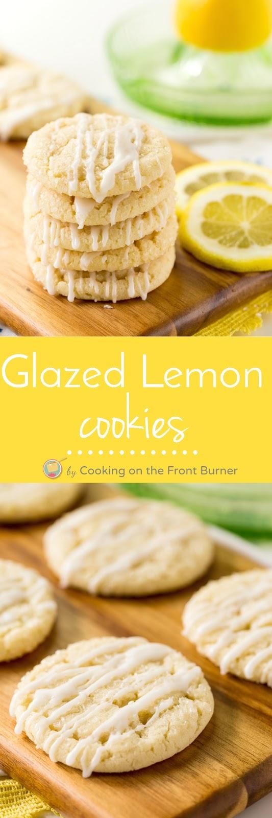 Glazed Lemon Cookies   Cooking on the Front Burner