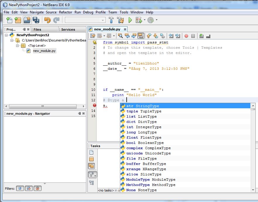 Tien tuts: IDE for Python