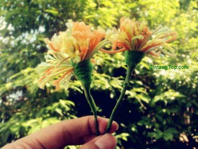 Cara Mudah Membuat Bunga Dandelion dari benang
