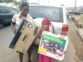 Good Nigerians purchase TV, rent home for little girl who got battered by her father for watching TV at a neighbor's house