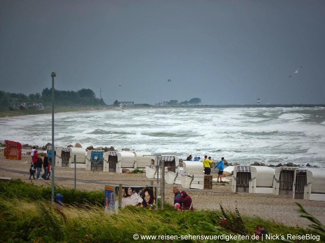 Ostsee Sturm Schlechtes Wetter