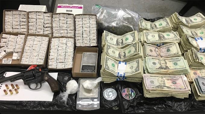 Ocupan a dominicana y dos hombres 2.000 bolsitas de heroína, pistola, cocaína, marihuana y dinero