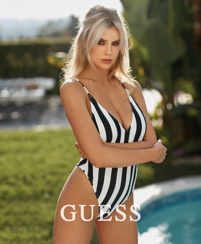 Charlotte McKinney x Guess Swimsuit Campaign