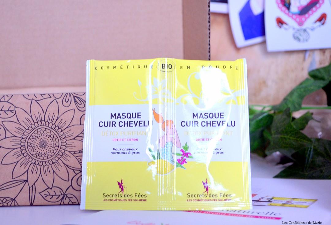 bio - box bio - box beauté bio - box beauté naturelle - soins naturels - soins français - soins bio - masque cuir chevelu - bonne santé - secrets des fées - marque bio - marque française de cosmétiques bio