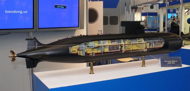 Mô hình tàu ngầm lớp Amur-1650 trang bị động cơ AIP