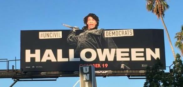 EPIC! Street Artist Sabo Depicts Mad Maxine Waters as 'HALLOWEEN' Villain