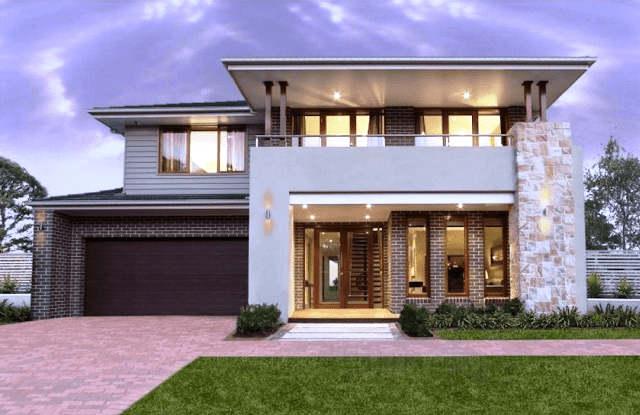 Model Rumah Mewah 2 Lantai Minimalis Sederhana