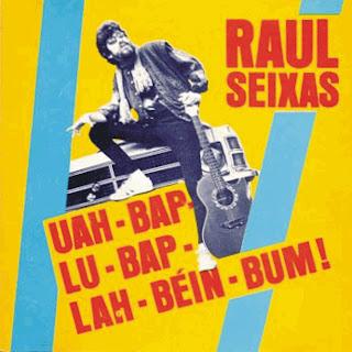 """Raul Seixas na capa do disco """"Uah-Bap-Lu-Bap-Lah-Béin-Bum!"""" de 1987"""