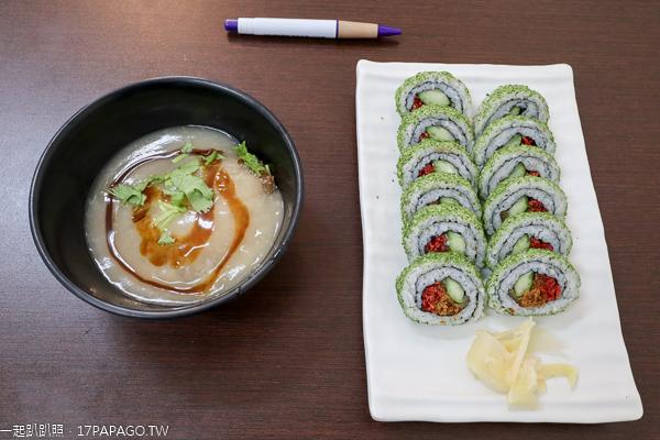 台中東區|永興素食|花壽司|脆皮素圓|素食日式美食