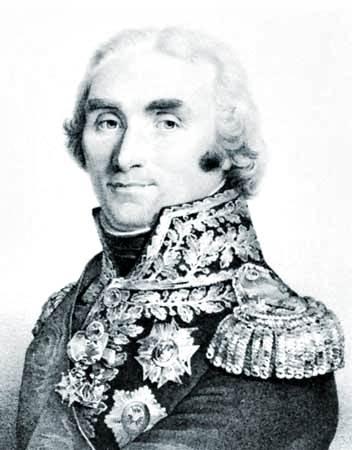 André Masséna, duc de Rivoli, litografía de François-Séraphin Delpech,
