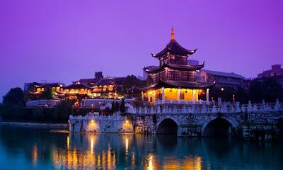 หอเจี่ยซิ่ว (Jiaxiu Tower: 甲秀楼) @ www.iqingyi.com