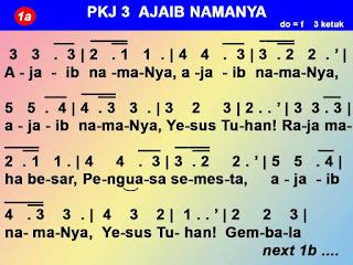 Kord Lagu Ajaib NamaNya PKJ 3